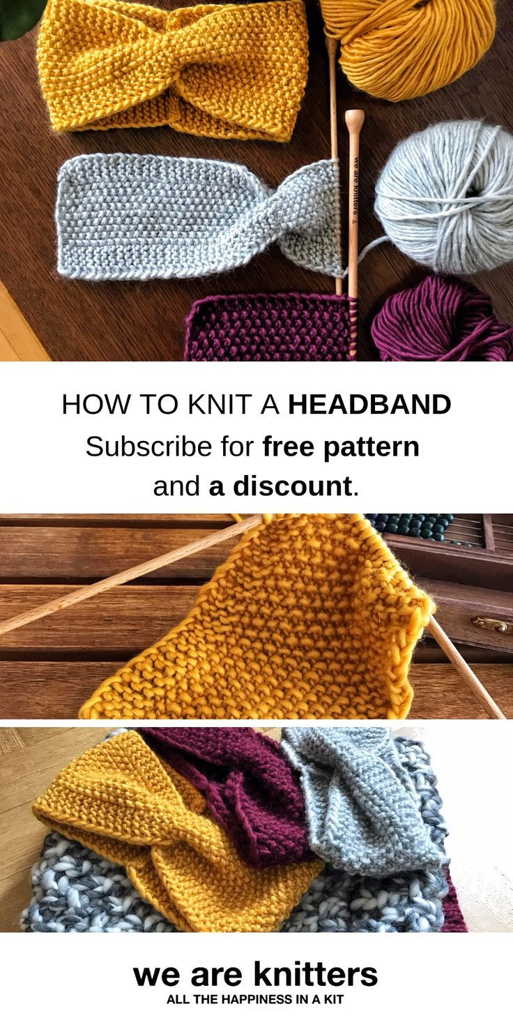 Knit Your Own Headband For This Autumn. - Diy Crafts