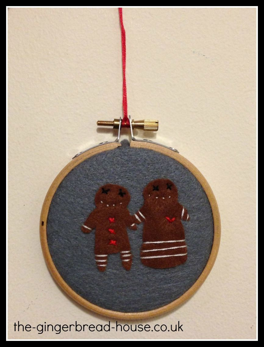 felt gingerbread people