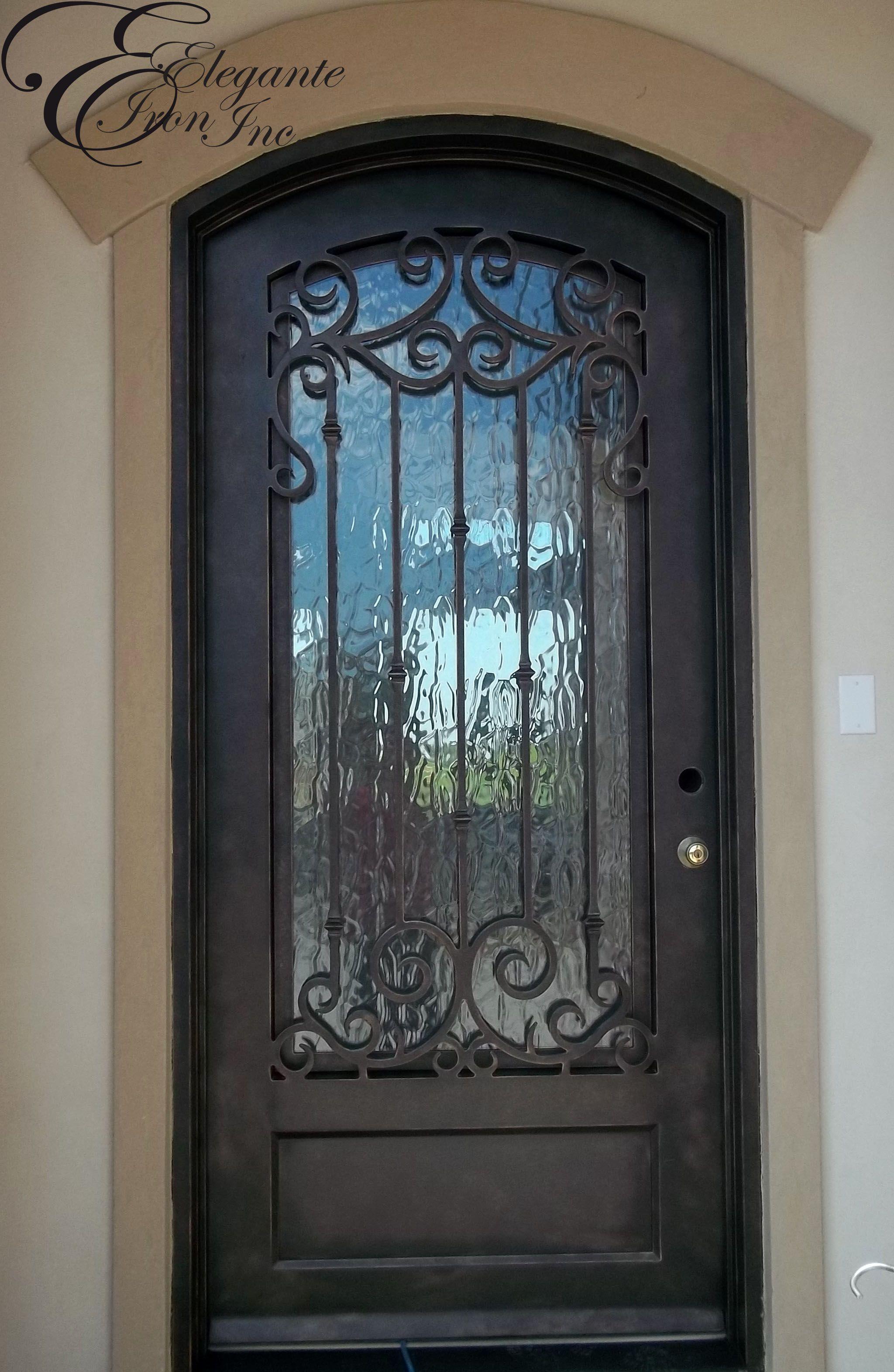 Custom wrought iron front door