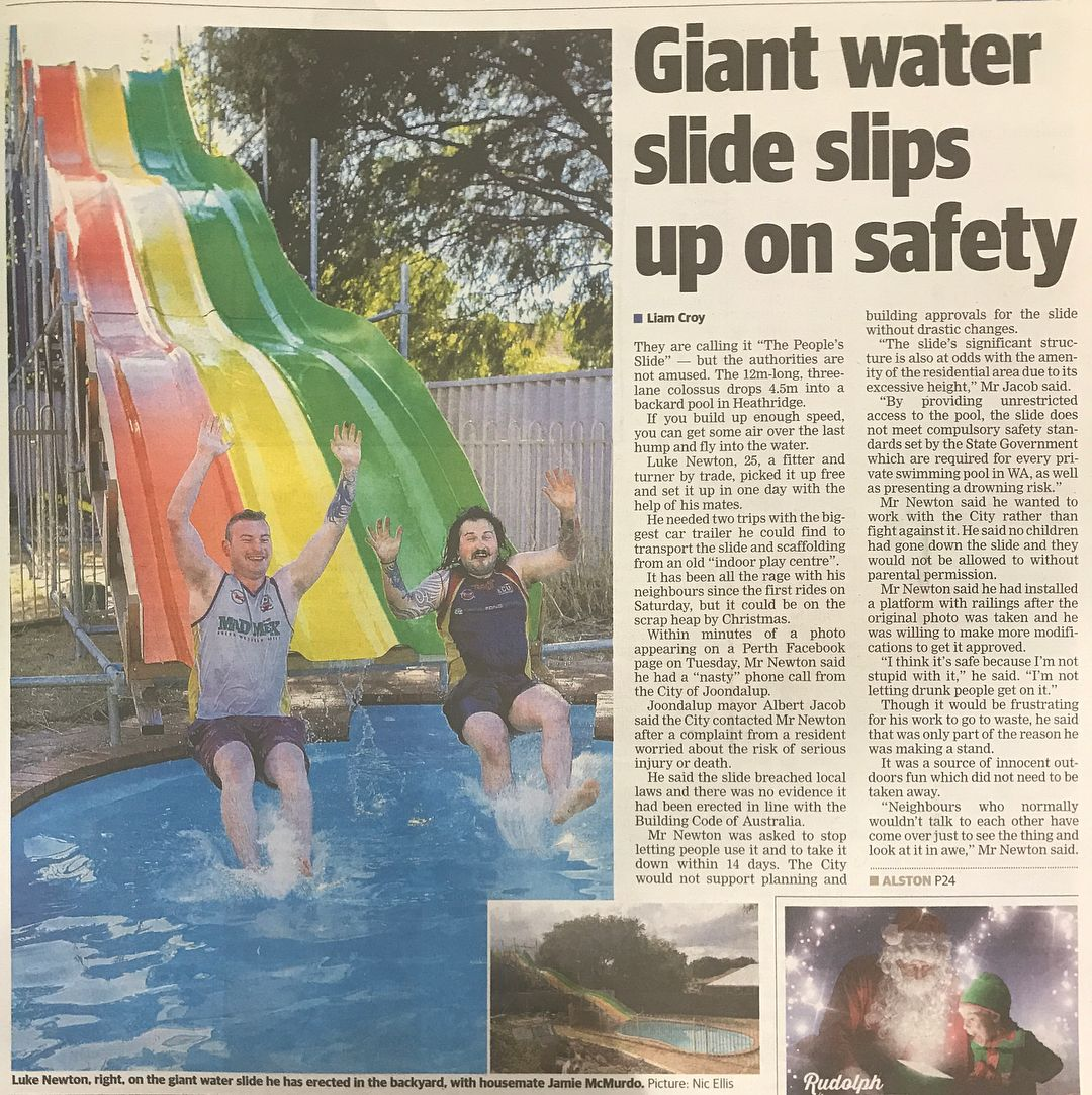 Appoint A Spasa Wa Member To Install Your Pool And You Will Never Have A Problem With Local Council 1 In 2020 Barrier Reef Pools Pool Picture Giant Water Slide