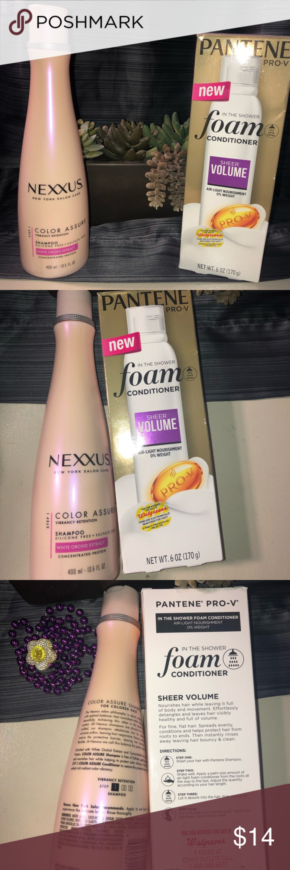 Nexxus N Pantene Get Both For The Prices Nexxus Is Size 13 5oz And The Pantene Conditioner Size 6oz No Expiration Date Pantene Nexxus Things To Sell