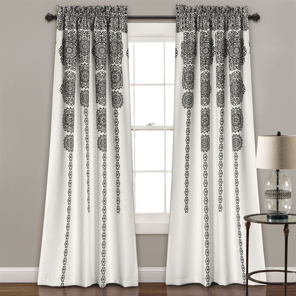 Shop Lush Decor  Stripe Medallion Room Darkening Window Curtain (Set of 2) at The Mine. Browse our curtains & drapes, all with free shipping and best price guaranteed.