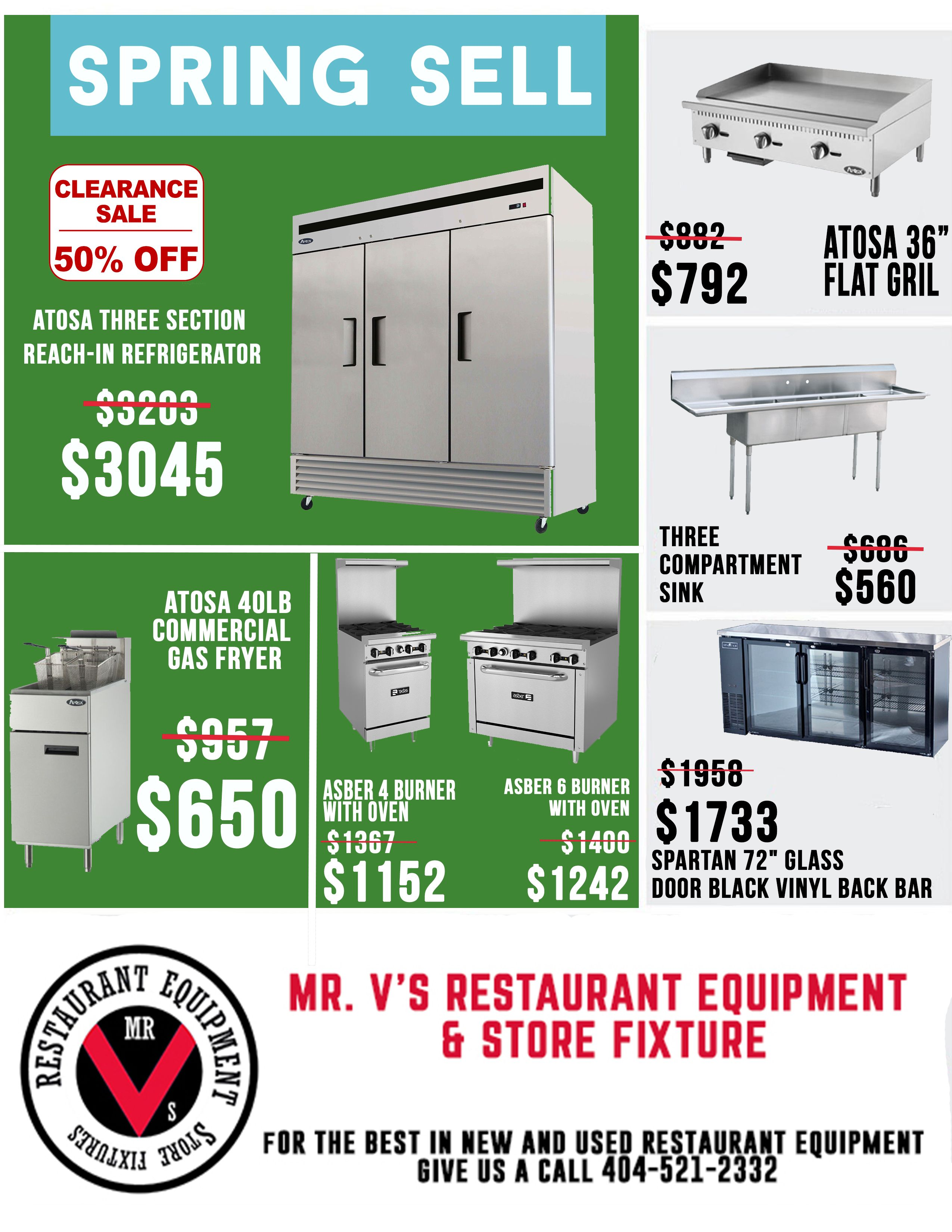 Spring Sell On New Items Call Us Or Come Down To Mr V S Restaurant Equipment Restaurant Equipment Used Restaurant Equipment Locker Storage
