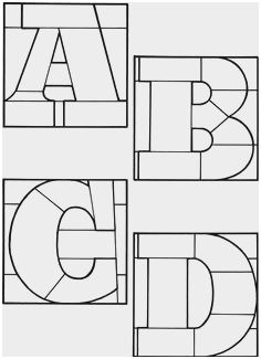 Stained Glass Letter Patterns Marvelous Decorative
