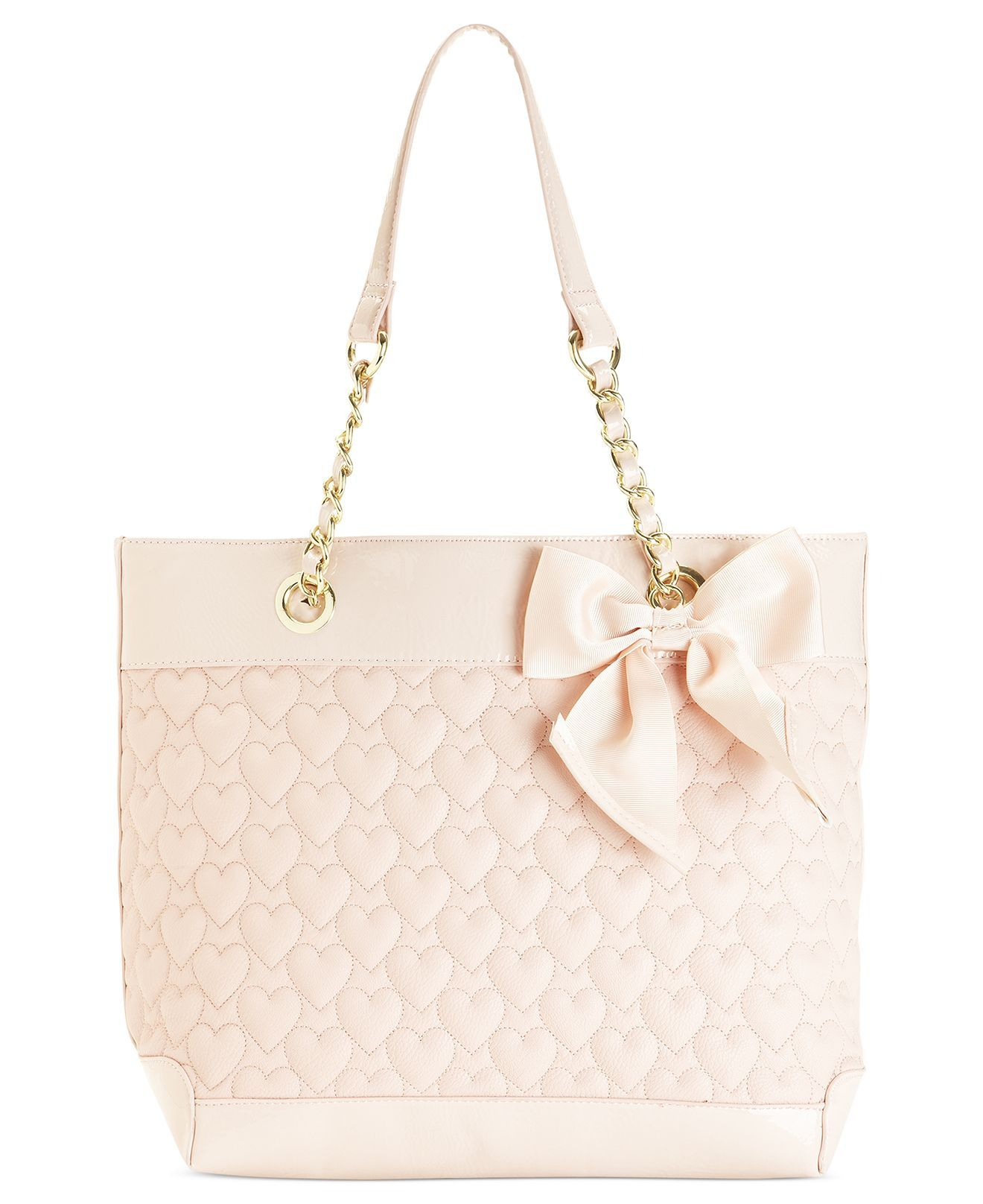 Betsey Johnson Handbag Heart Quilted Tote
