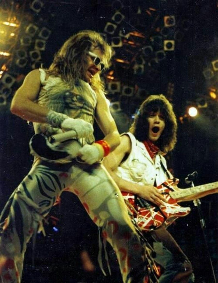 On Stage Van Halen Eddie Van Halen David Lee Roth