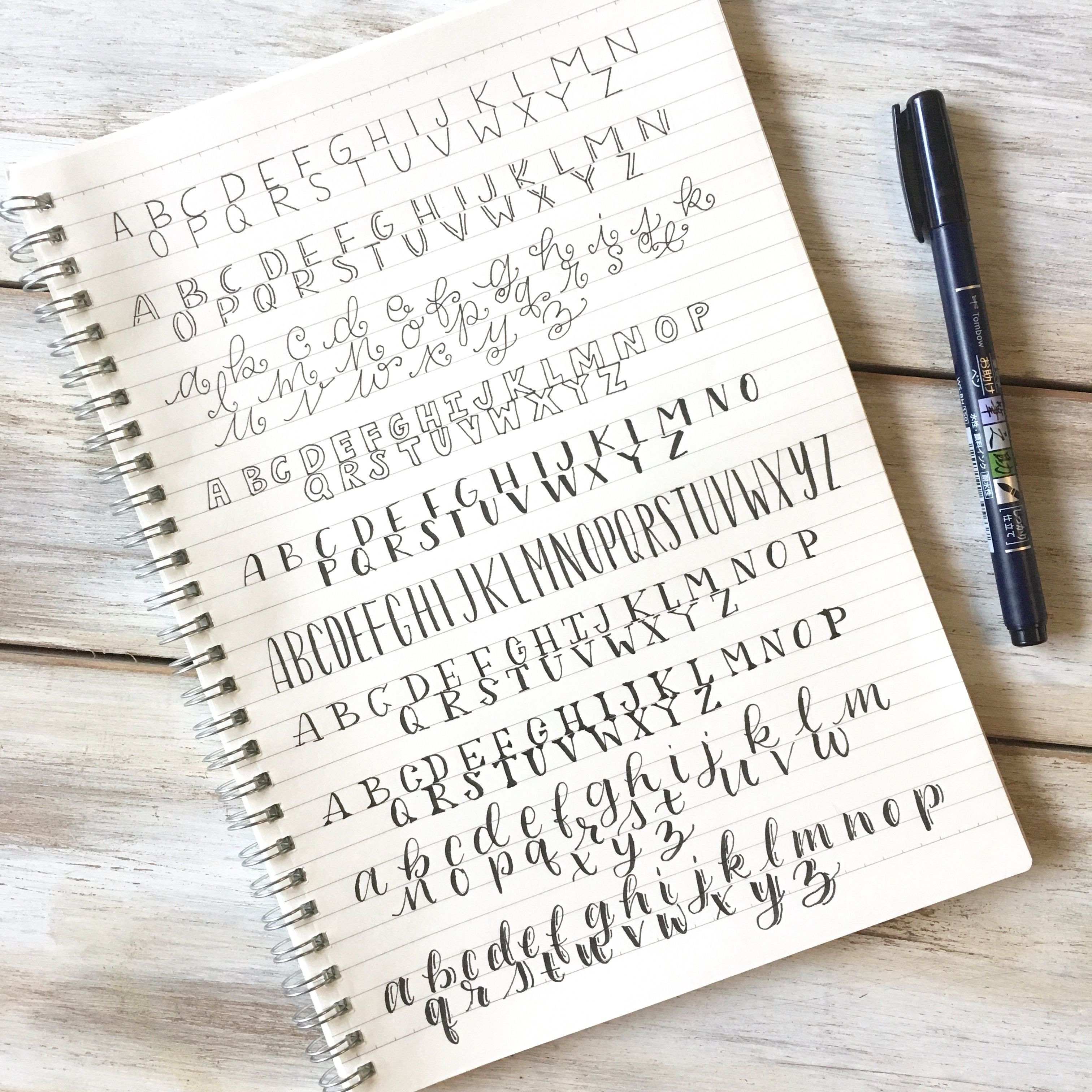 10 Simple Hand Lettering Styles Plus A Free Cheat Sheet