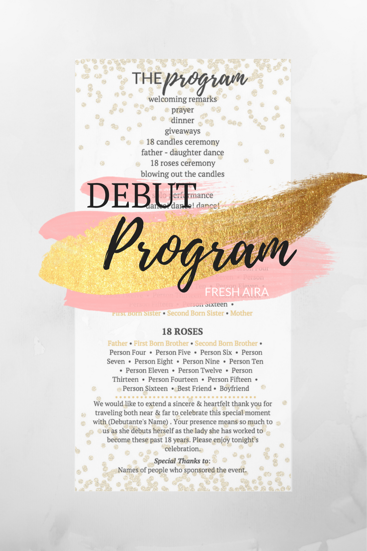 Filipino Debut Program #debutideas