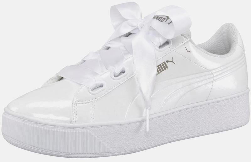 PUMA Sneaker 'Vicky Platform Ribbon P' in weiß | ABOUT YOU