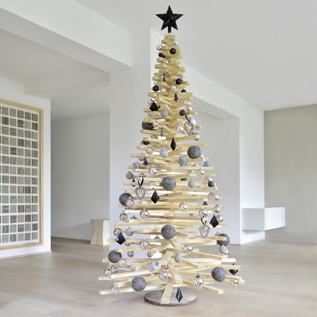 DIY-Weihnachtsbaum aus Holzlatten   Muttis Nähkästchen