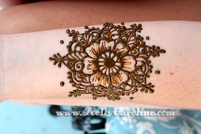 Mehndi Tattoo Flower Designs : Floral mandala henna tattoo on the forearm by http: www