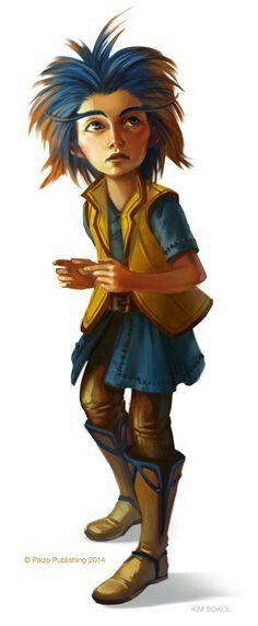 Female Gnome Commener - Pathfinder PFRPG DND D&D d20 fantasy