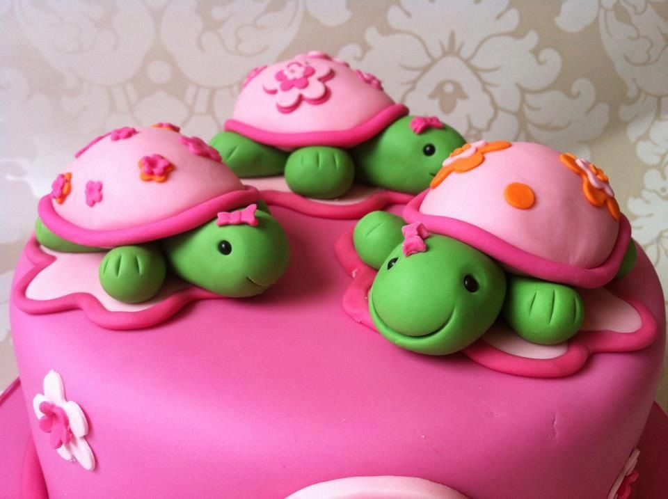 Turtle cake mini turtles would be easier than a turtleshaped cake