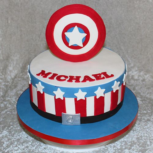 Captain America Shield cake by Cutie Cakes Our Cakes and goodies