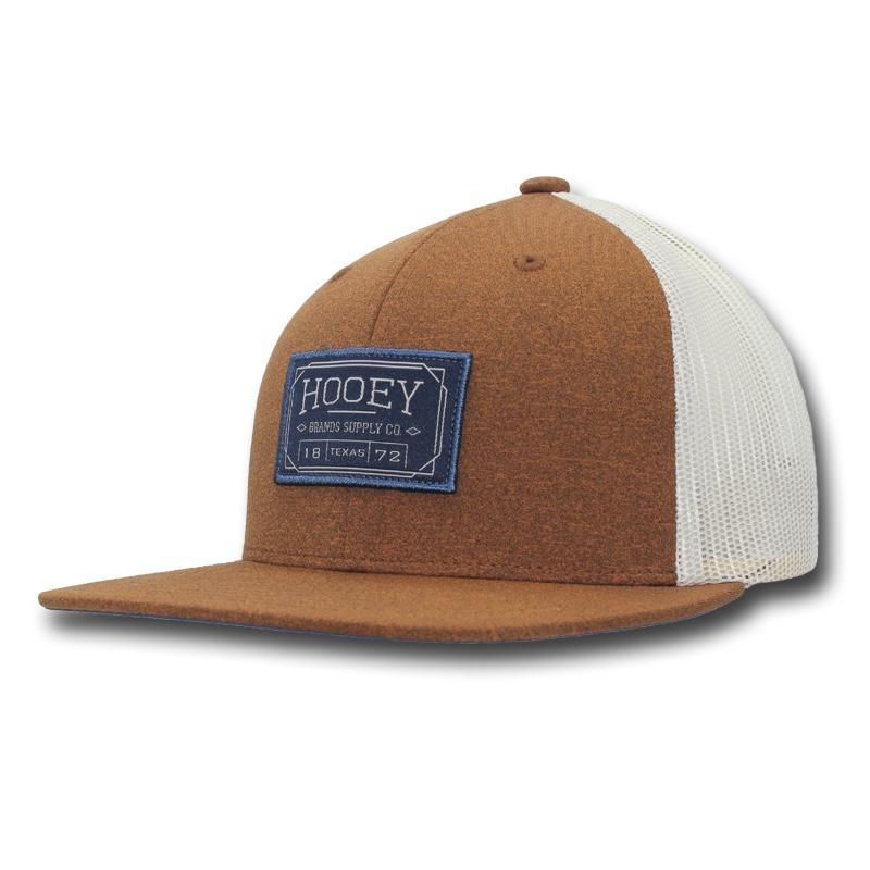 02f00a1bf07 HOOey Brown Cream Patch Trucker Cap