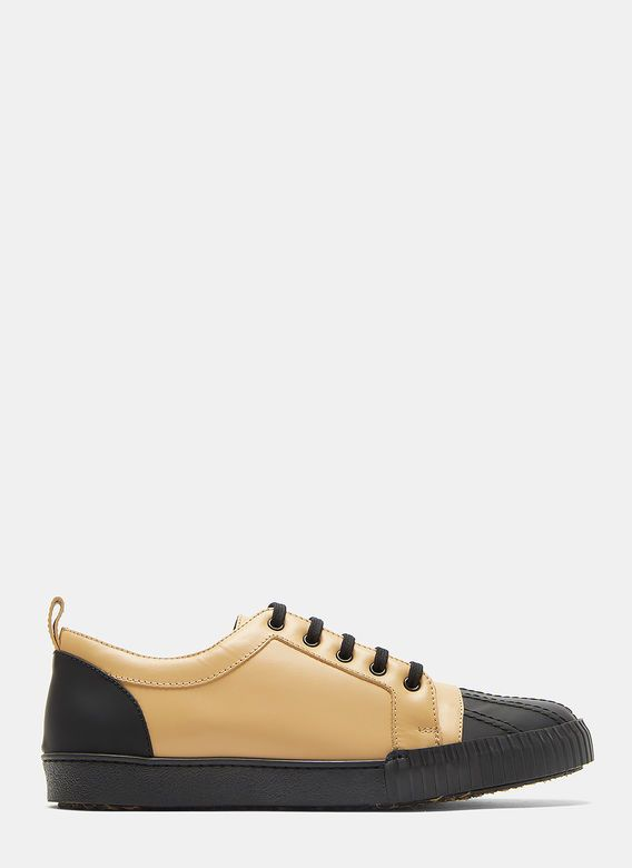 Two-Tone Shell Toe Leather Sneakers Marni mM8t1Xk