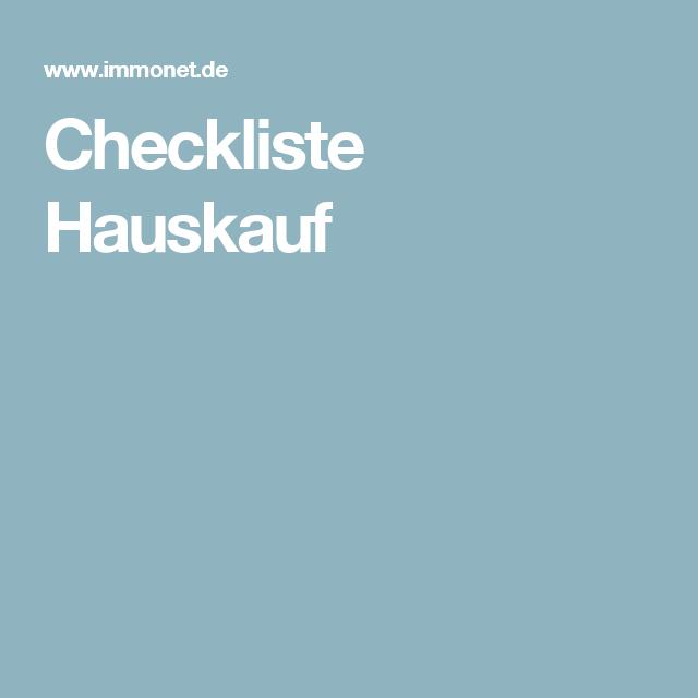 Checkliste Hauskauf | Hauskauf | Pinterest | Checkliste und Häuschen