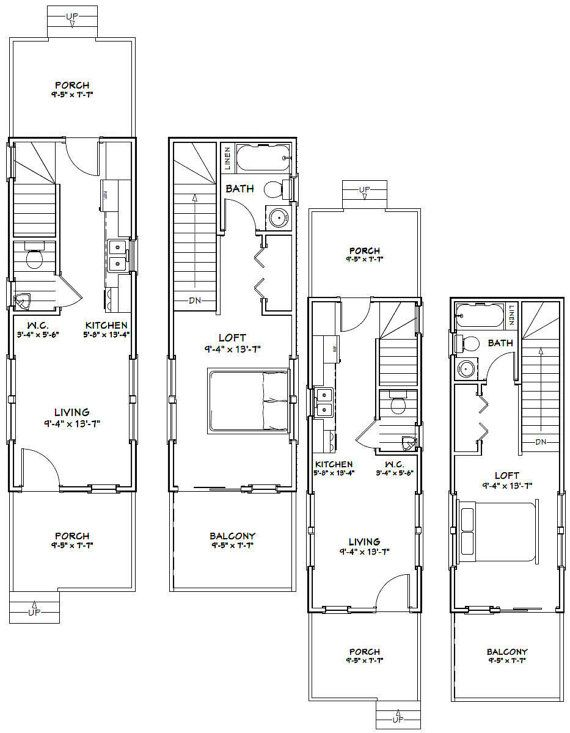 10x28 1 Bedroom 1.5 Bath Small Houses PDF By ExcellentFloorPlans
