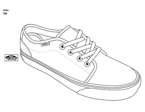 Wire Shoe Project Vans Drawing Modelos
