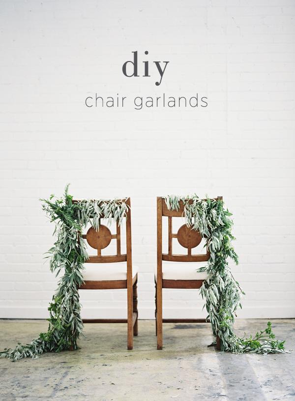 DIY Chair Garland Via OnceWed.com