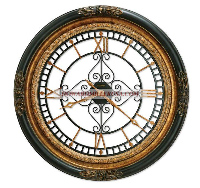 37 Large Howard Miller Quartz Wrought Iron Dial Wall Clock 625443 Gallery Wall Clock Howard Miller Wall Clock Oversized Wall Clock