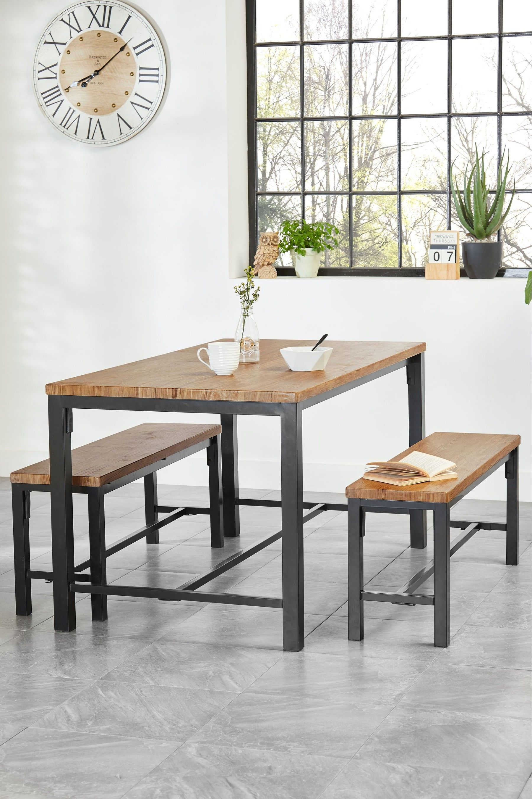 Ellison Dining Table And Bench Set Dining Table With Bench Table Bench Set Dining Room Sets