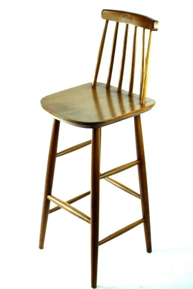 Swell Details About Vintage Beech Stick Back Bar Stool Free Ibusinesslaw Wood Chair Design Ideas Ibusinesslaworg