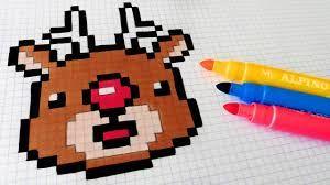 Image Result For Pixel Art Dessin Pixel Pixel Art Noel Et