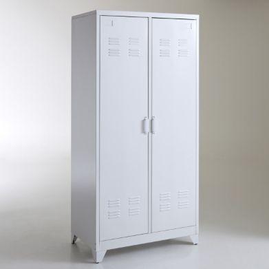 Armoire vestiaire, métal, 2 portes, HIBA, La Redoute A acheter