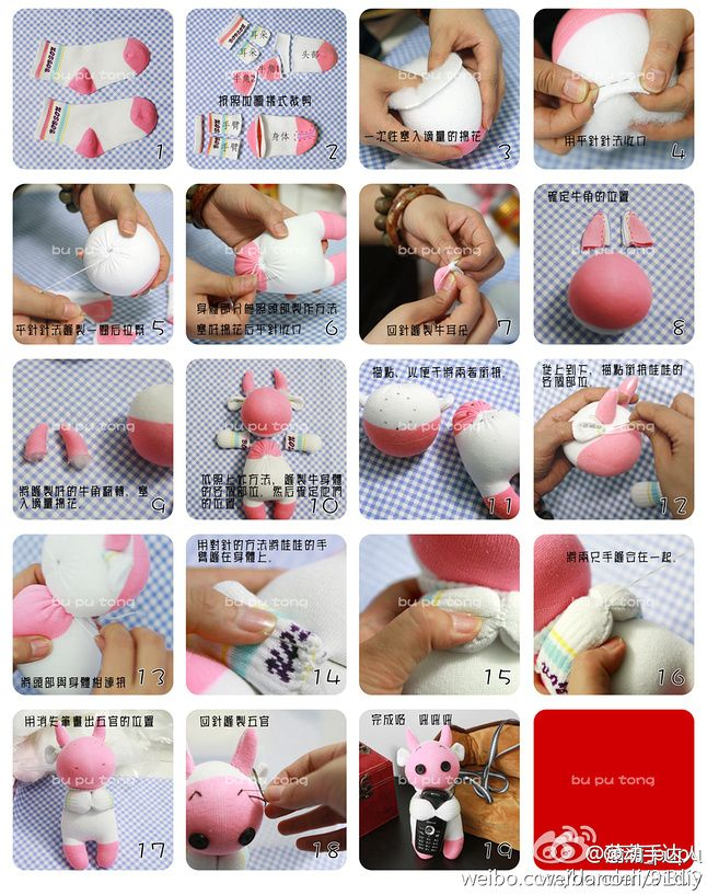 DIY Stubborn Sock Rabbit