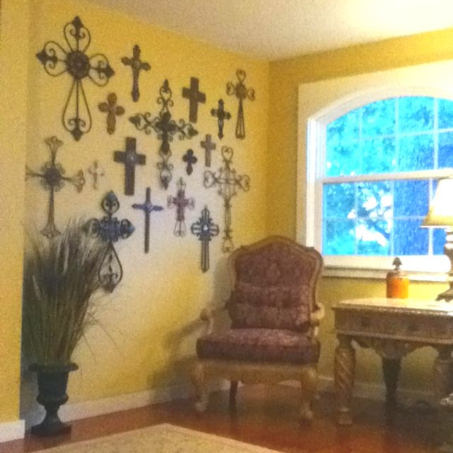 Cross wall! :) | For the Home | Pinterest | Cross walls, Walls and ...
