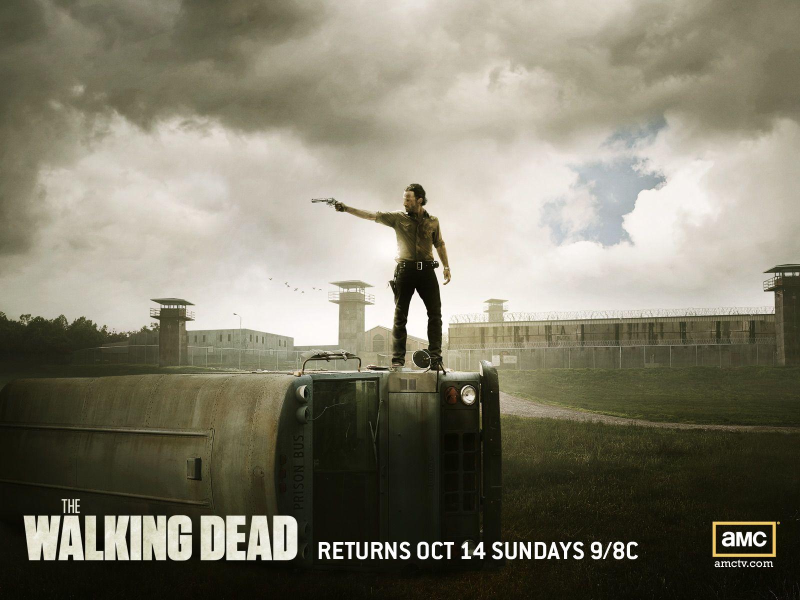 The Walking Dead Wallpaper Rick Grimes Walking Dead Prison Walking Dead Season Walking Dead Wallpaper