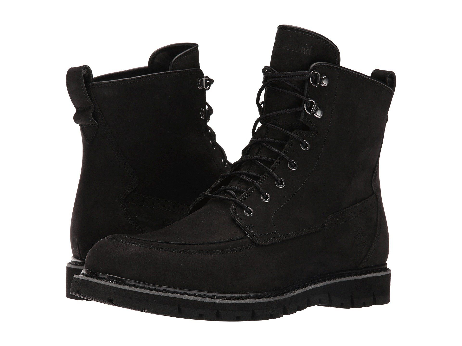 promo code f7b70 3c6e3 Timberland Mens Britton Hill MocToe Waterproof Boot Black Nubuck 9.5 M US      Click