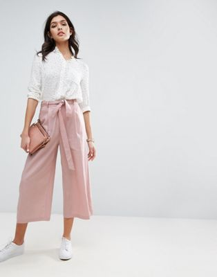 Falda pantalón de lino de ASOS