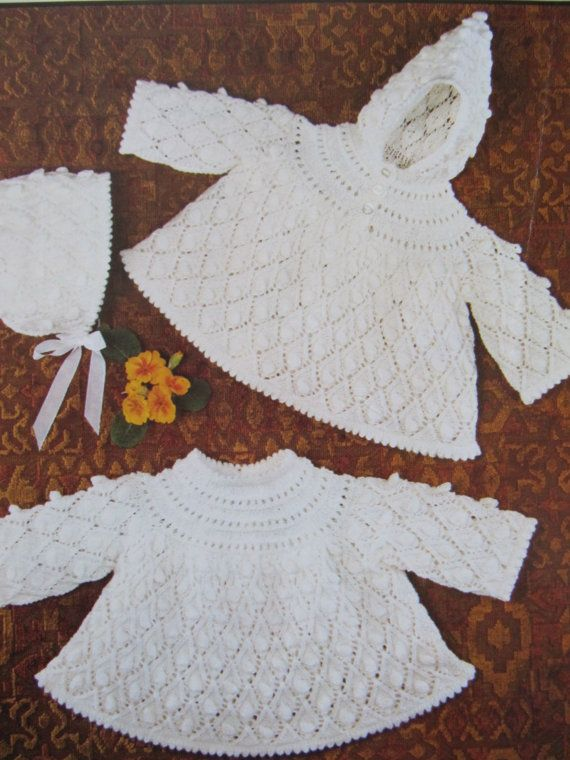 Vintage Baby Angel Tops Knitting Pattern by lovevintagecrafts #knitting #babyknittingpatterns #vintageknitting