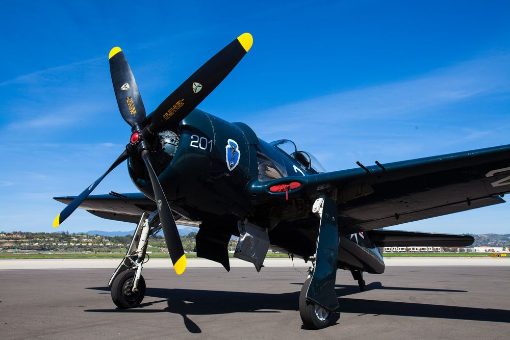 CAF received this Bearcat in 1991, and after an 18-month restoration process, the plane returned to flight. Commemorative Air Force
