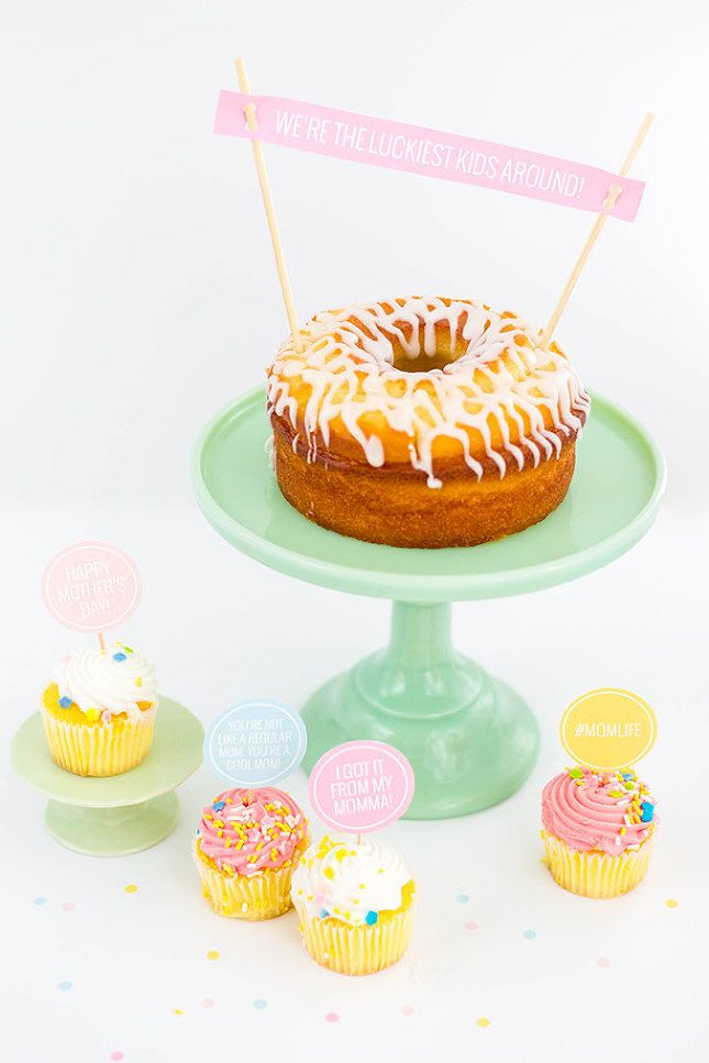 Diy Printable Mother S Day Cake Toppers Mother S Day Diy Mothers Day Cake Cake Toppers