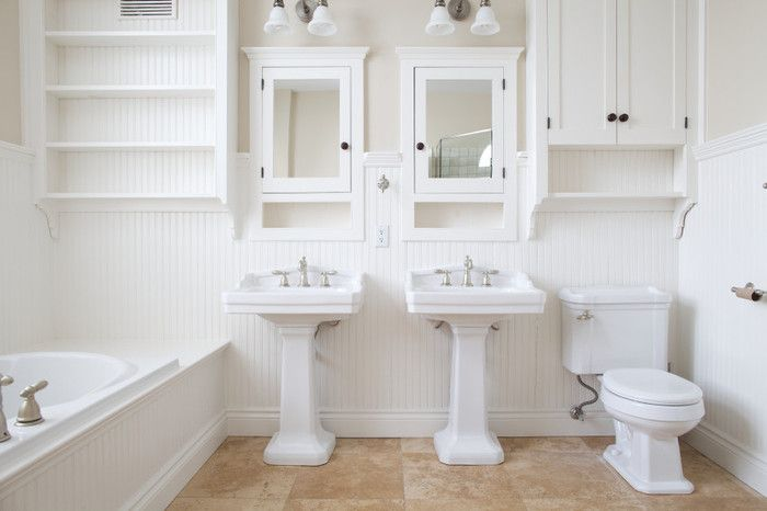 19 Ways To Clean With Your Clorox Bleach Pen White Master Bathroom Modern White Bathroom White Bathroom