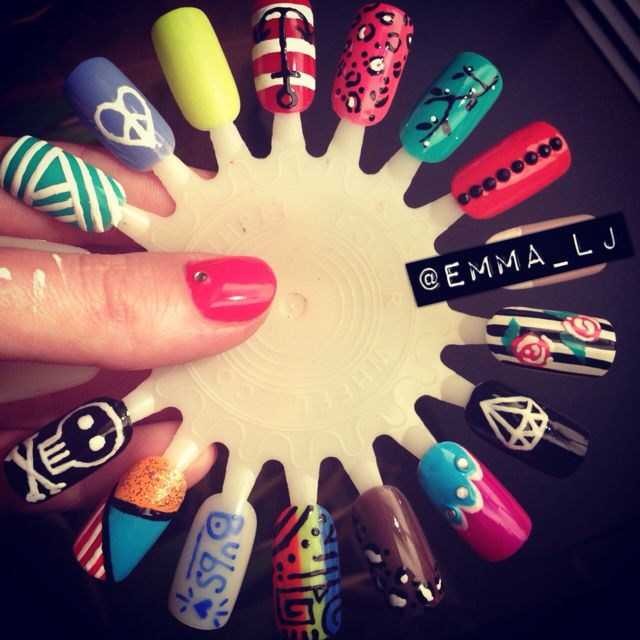 Nail art practice wheel. I\'m getting there slowly. | nails done ...