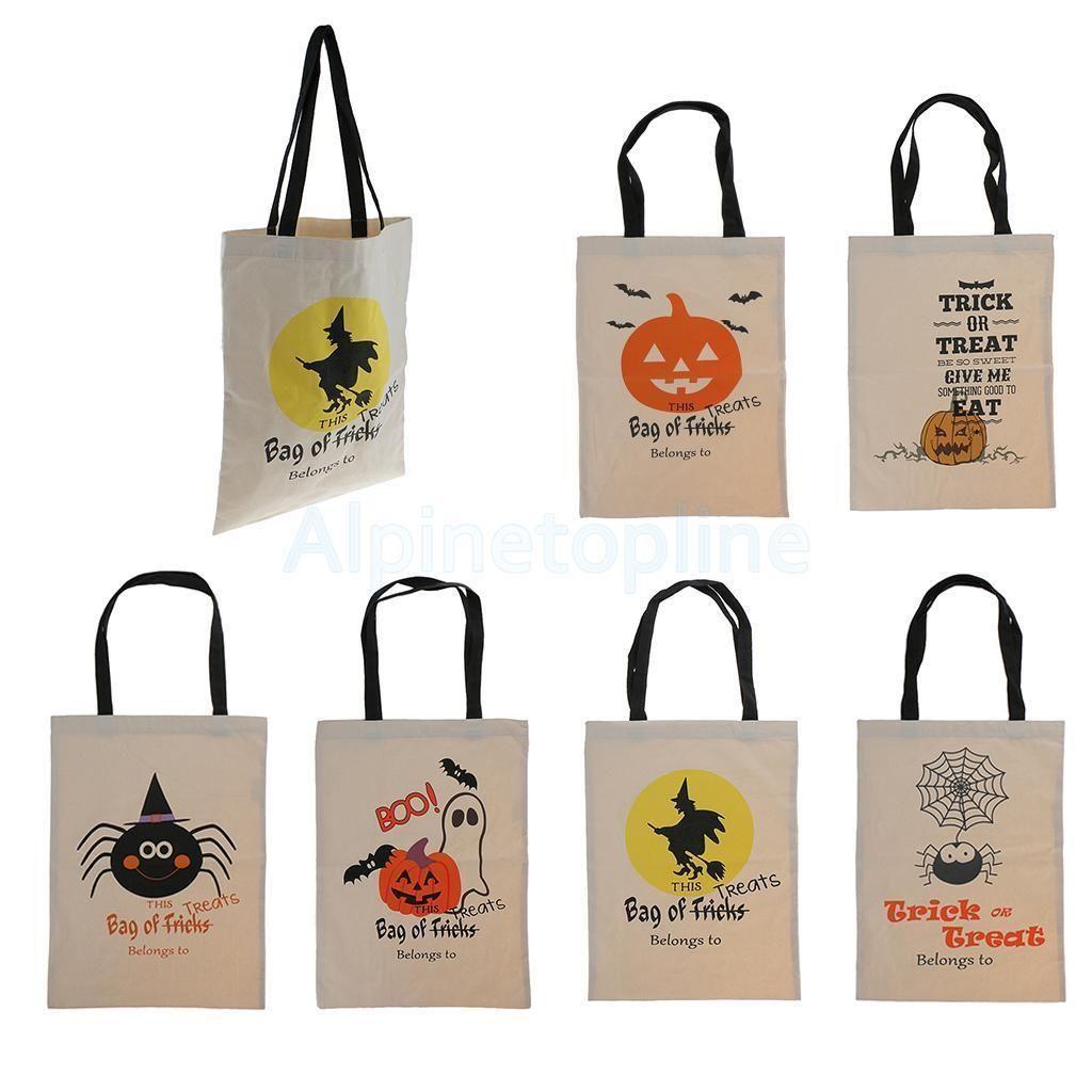 Women Handbag Shopping Cotton Canvas Tote Bag Shoulder Bags Halloween Gift  Decor 0ce8c7cb3