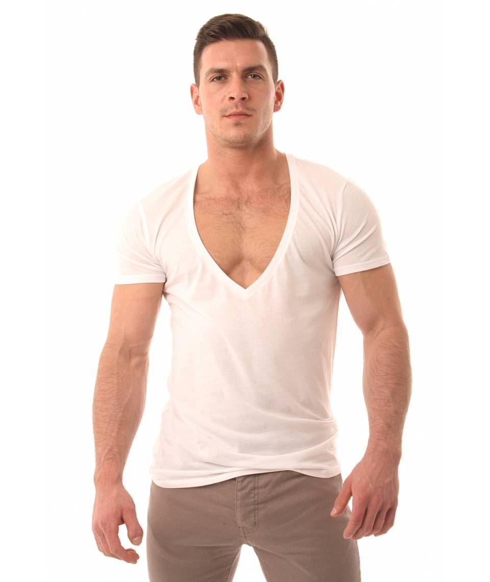 458c39570ce1 Deep V Neck T Shirts Mens   Azərbaycan Dillər Universiteti