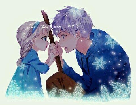 Can You See Me Jack X Elsa Jack Frost Disney Fan Art Disney Cartoons