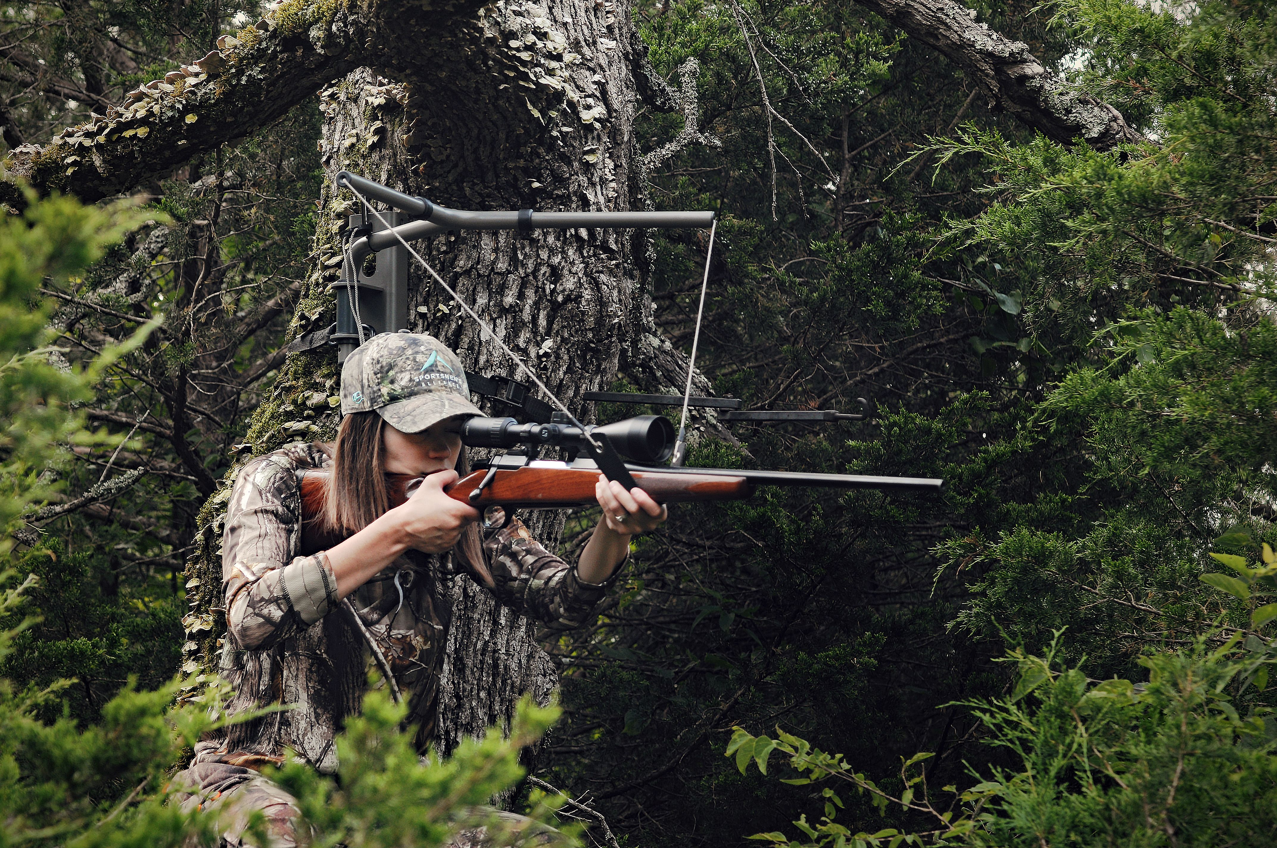 The Skyrest Tree Stand Shooting Rest Is A Lightweight