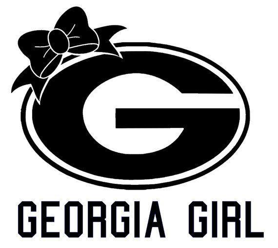 Uga Georgia Girl Vinyl Decal Sticker Car Decals