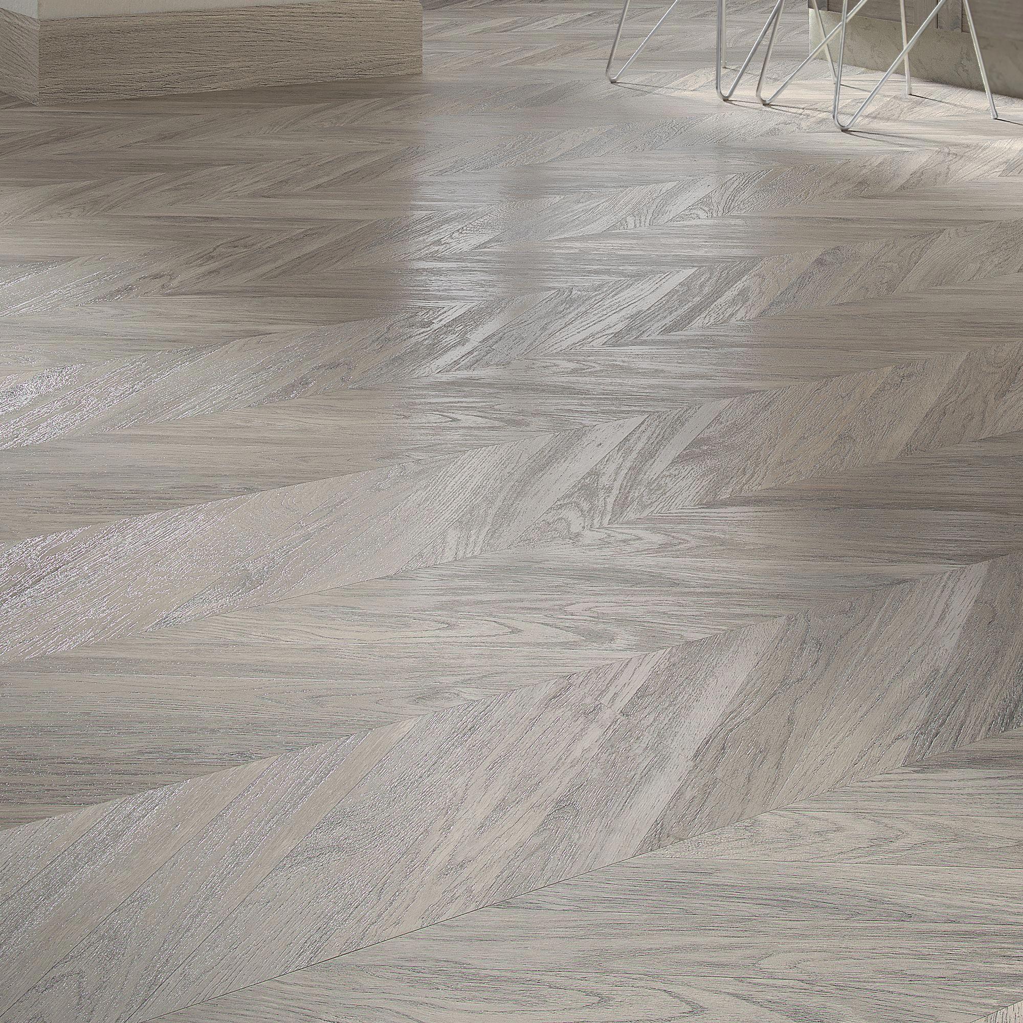 Alessano Herringbone Grey Embossed Laminate Flooring 1.39