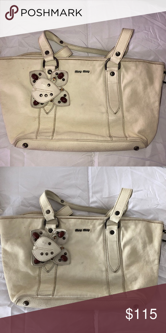 Authentic MIU MIU purse Gorgeous and authentic MIU MIU purse Lightly  stained In good condition Price 6281870c0f