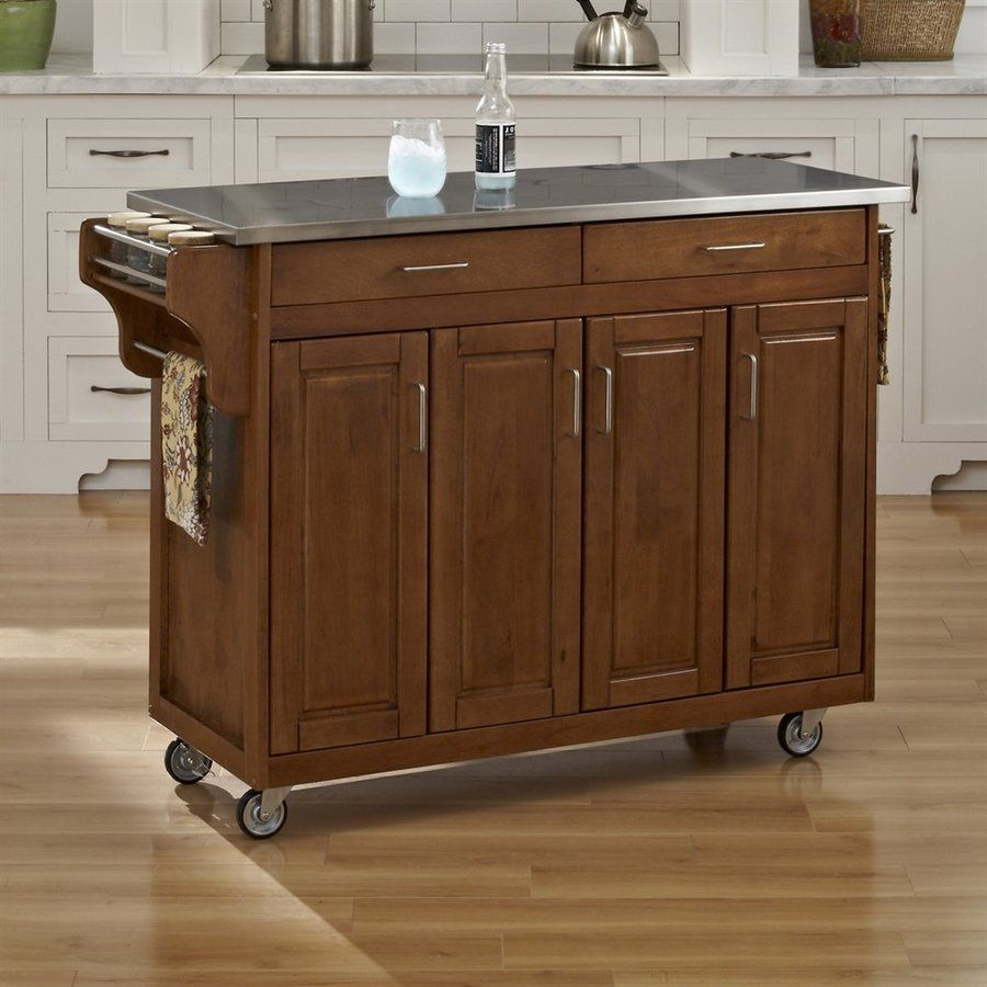 Best Home Styles Brown Scandinavian Kitchen Carts Portable 400 x 300