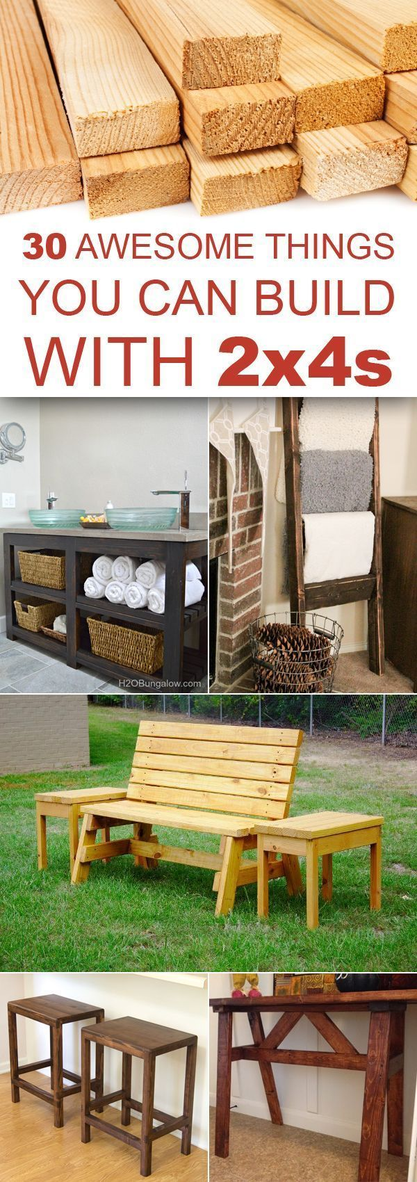 30 Awesome Things You Can Build With 2x4s Projets De Bricolage Bois Projets De Mobilier Meuble