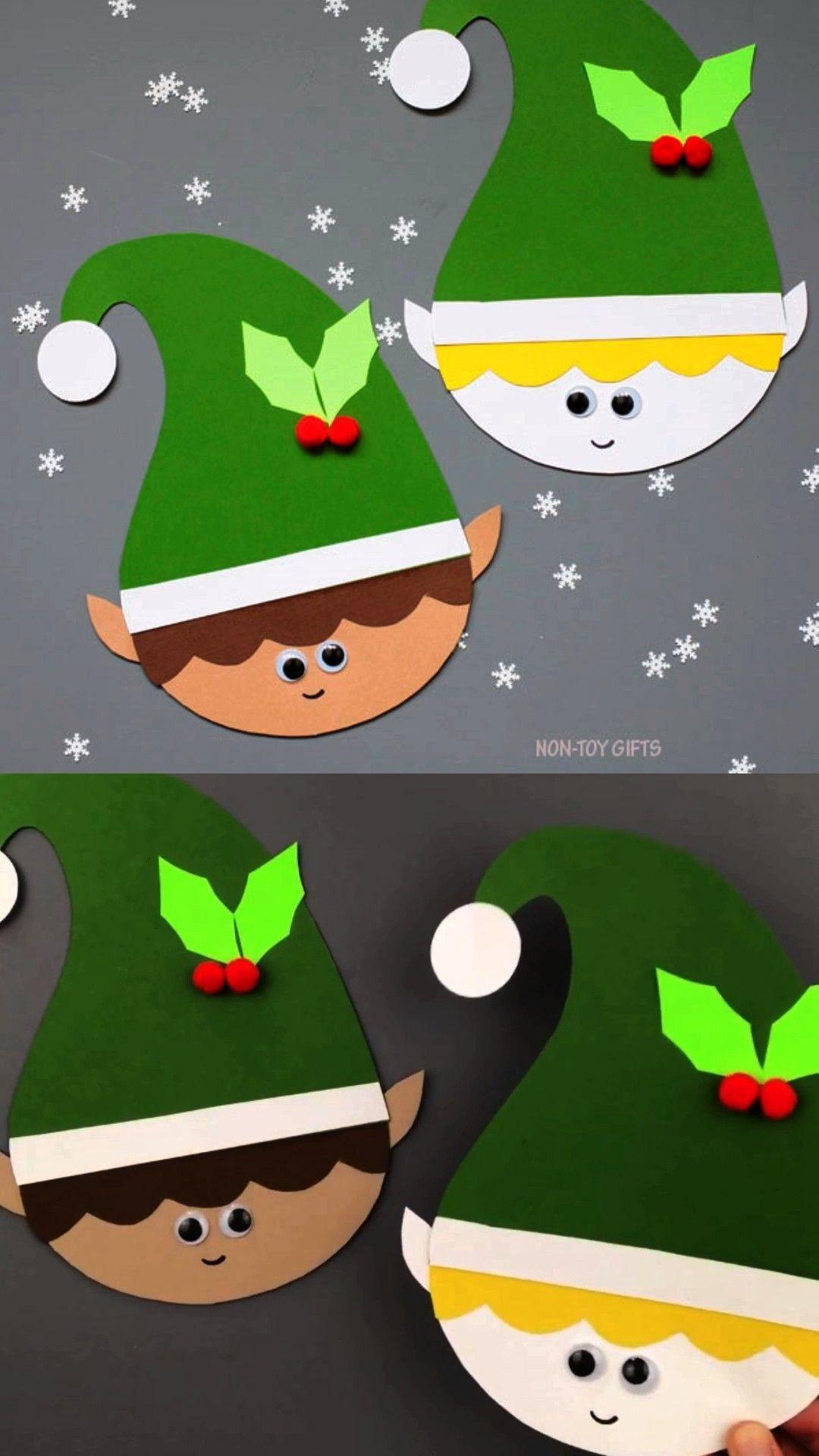 craft Paper elf craft for preschoolers, kindergartners and older kids. Elf craft template available
