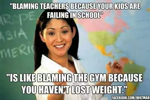Image result for blaming the teacher